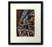 QVB angles Framed Print