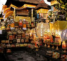 Offerings in a Temple in Bali by JonathaninBali