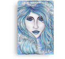 Girl & The Sea Canvas Print