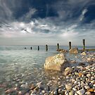 Breakwater at Llandulas. by maxblack