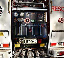 Rear of New Fire Truck by odarkeone
