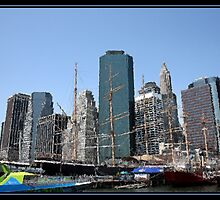 SOUTH STREET SEAPORT BRUSHSTROKES by BOLLA67