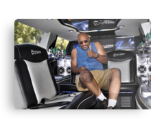 In the back of my limo Metal Print