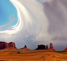 Swirling in Monument Valley by Linda Sparks