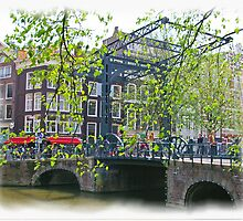 Amsterdam Drawbridge by Tom  Reynen