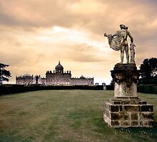 Firey sky over Castle Howard by Dan Shalloe