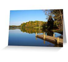Blue Skies at Mill Creek Lake  Greeting Card