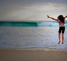 Leaping Indian Ocean by Melinda  Ison - Poor