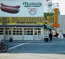 Nathan's, Coney Island, NY by gailrush