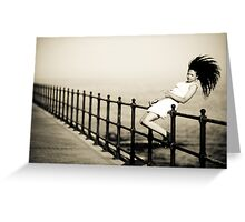 Hair Styling Greeting Card