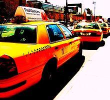 yellow cab taxi rank by Ravia Khatun