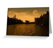 Pale Moon Rising Greeting Card