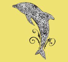 Dolphin Doodle T-shirt Kids Clothes