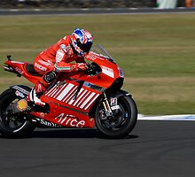 Casey Stoner on his Ducati (GP7) by phanoongy