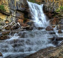 Tangle Falls hwy 93 Jasper National Park Alberta by PFrogg
