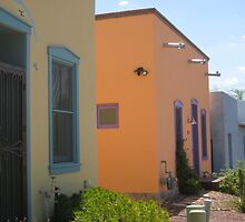 Colorful Houses in the Barrio by Michael Cohen