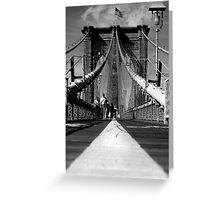 Brooklyn Bridge I, New York City, USA Greeting Card