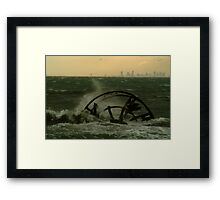 Melbourne from the Ozone Paddle Steamer Wreck Framed Print