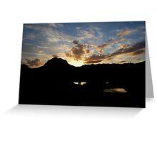 Mount Coxcombe Sunset Greeting Card