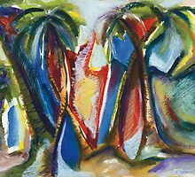 Tropical Art Impressions 1 by Kerryn Madsen-Pietsch  by Kerryn Madsen-Pietsch