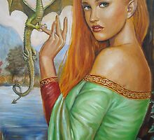 Tamlina and the Dragon by dashinvaine