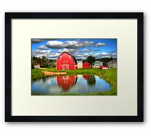Country Barnyard Framed Print