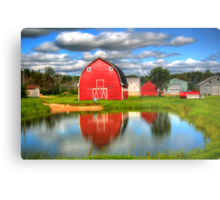 Country Barnyard Metal Print