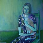 Girl with a cat by IvonaTorovin