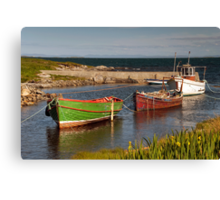 Berneray: Wee Harbour Canvas Print