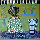 Girl having tea by IvonaTorovin