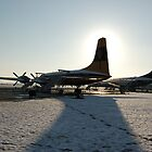 Aviation museum at Duxford in the snow by Anita52