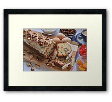 Fruit Brazil Butter Cake Framed Print