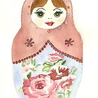 Russian Doll With Rose by Courtney Carlson