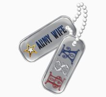 Army Wife Tags by Lotacats