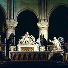 Paris Notre Dame Apse Altar 198408180045 by Fred Mitchell