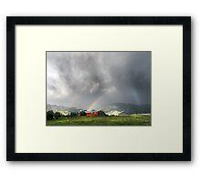Rainbow Dark on the Bridgers Framed Print