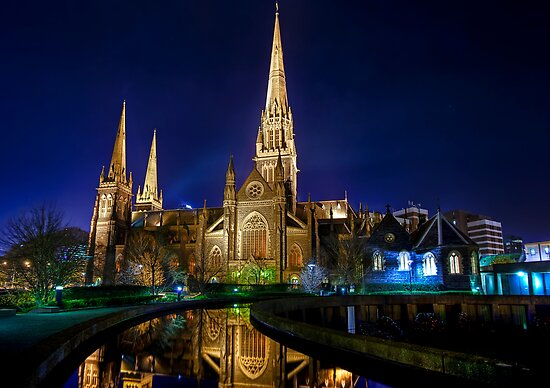 Heavenly Reflections • St Patrick's Cathedral • Melbourne by William Bullimore