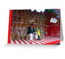 BLACK, WHITE AND RED ALL OVER Greeting Card