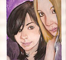 Portrait of Krista and Nikki by Katlandia