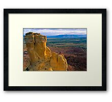 Chimney Rock at Ghost Ranch (Medium Format Film Version) Framed Print
