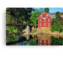 War Eagle Mill and Bridge, Arkansas Canvas Print