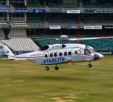 Sikorsky S-92 Landing at The Wanderers Cricket Stadium by RatManDude