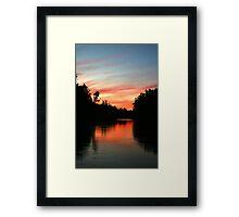 River Murray Sunset Framed Print