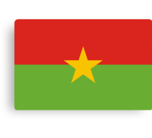 Burkina, national id Canvas Print