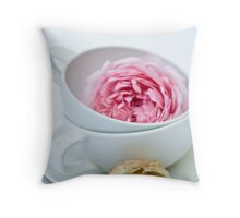 Puff Pastry Cookies With Almond and Rose Filling Throw Pillow