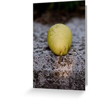 Pear In the Sun Greeting Card