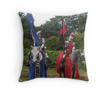 Knights of Old Throw Pillow