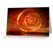 Flaming Dawn Greeting Card