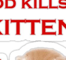 Comic Sans Kitten Sticker