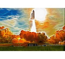 Shuttle Launch Photographic Print